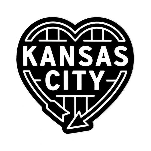Flint & Field Kansas City Heart Auto Sign Sticker