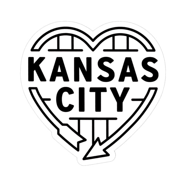 Flint & Field Kansas City Heart Auto Sign Sticker - White