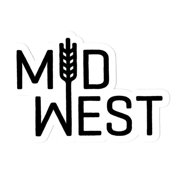 Flint & Field Midwest Sticker - Black & White