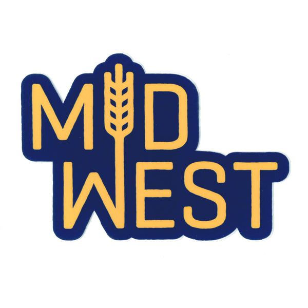Flint & Field Midwest Sticker - Navy & Gold
