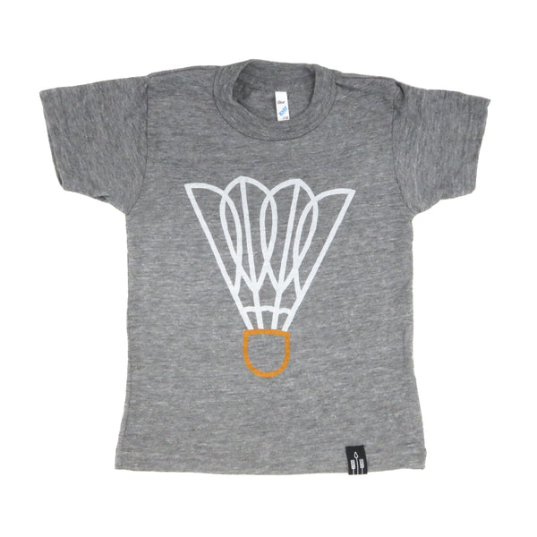Flint & Field Shuttlecock Kids Tee - Grey