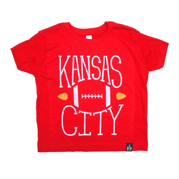 Flint & Field Kansas City Football Kids Tee