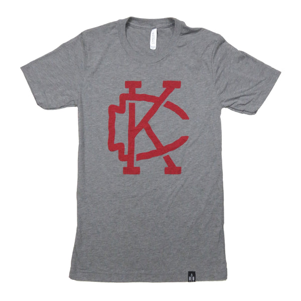 Flint & Field KC Arrowhead Tee - Grey