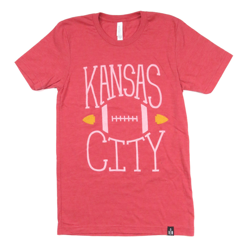 Flint & Field Kansas City Football Tee