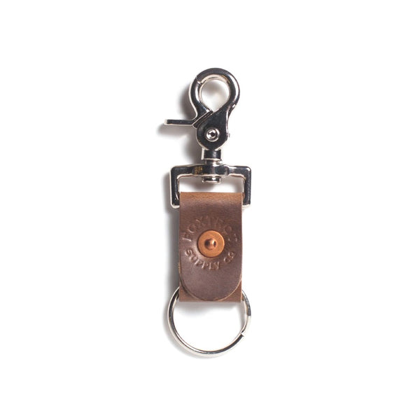 Foxtrot Supply Co. Simple Leather Key Clip - Brown