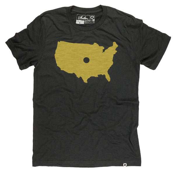 Freelance Clothing Dot KC Tee - Heather Black & Gold