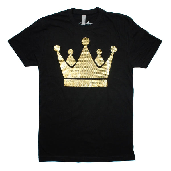 Freelance Clothing Crown Tee - Black and Gold