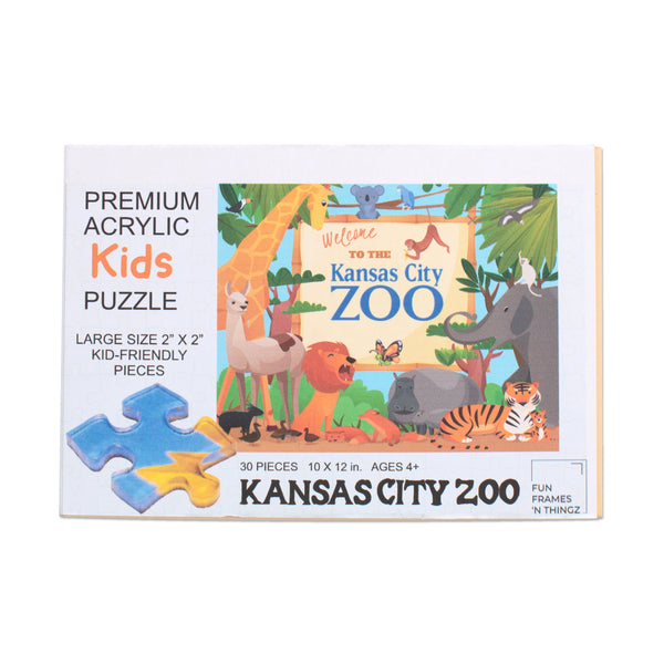Fun Frames N Thingz KC Zoo Acrylic Puzzle