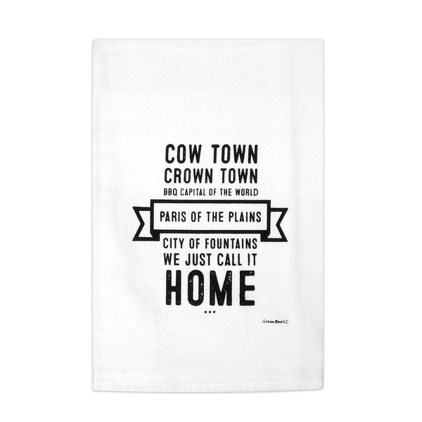 Green Bee Paris of the Plains Tea Towel