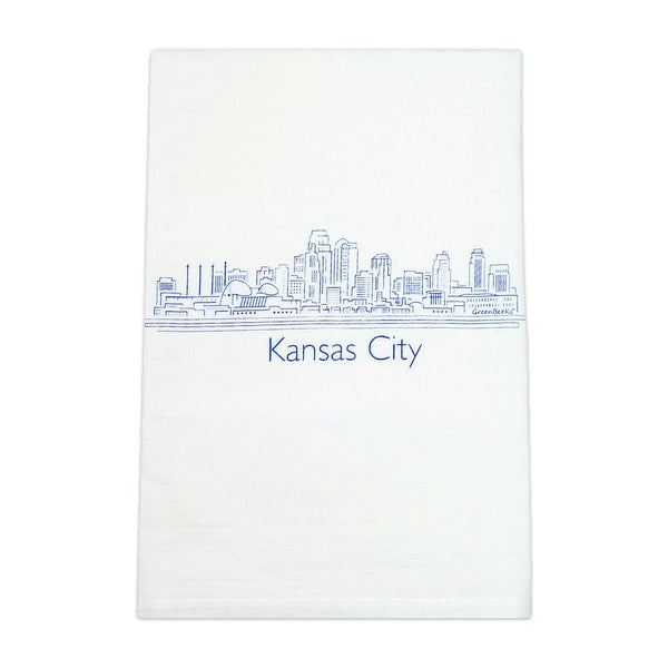 Green Bee KC Skyline Tea Towel - Royal