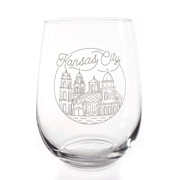 Half Full Drinkware Plaza Stemless Wine Glass