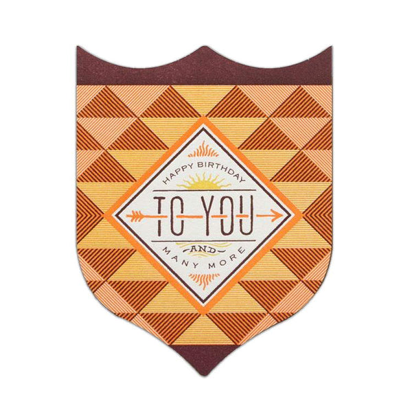 Hammerpress Birthday Sun and Arrow Badge Card