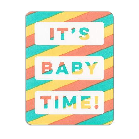 Hammerpress It's Baby Time Card