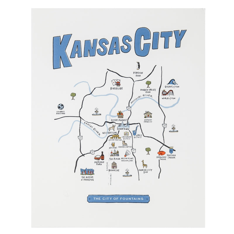 High Fancy Paper Kansas City Neighborhood Map