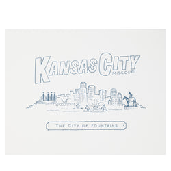 High Fancy Paper Kansas City Skyline Print