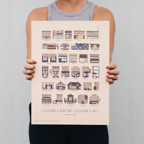 Hutch Modern Kansas City Bars Print
