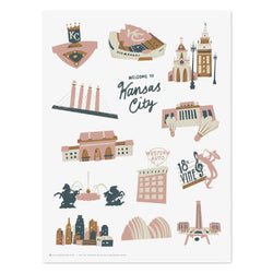 Hutch Modern Welcome to Kansas City Print
