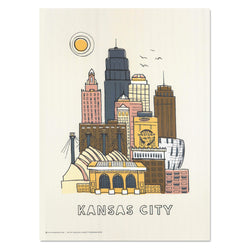Hutch Modern Kansas City Skyline Print