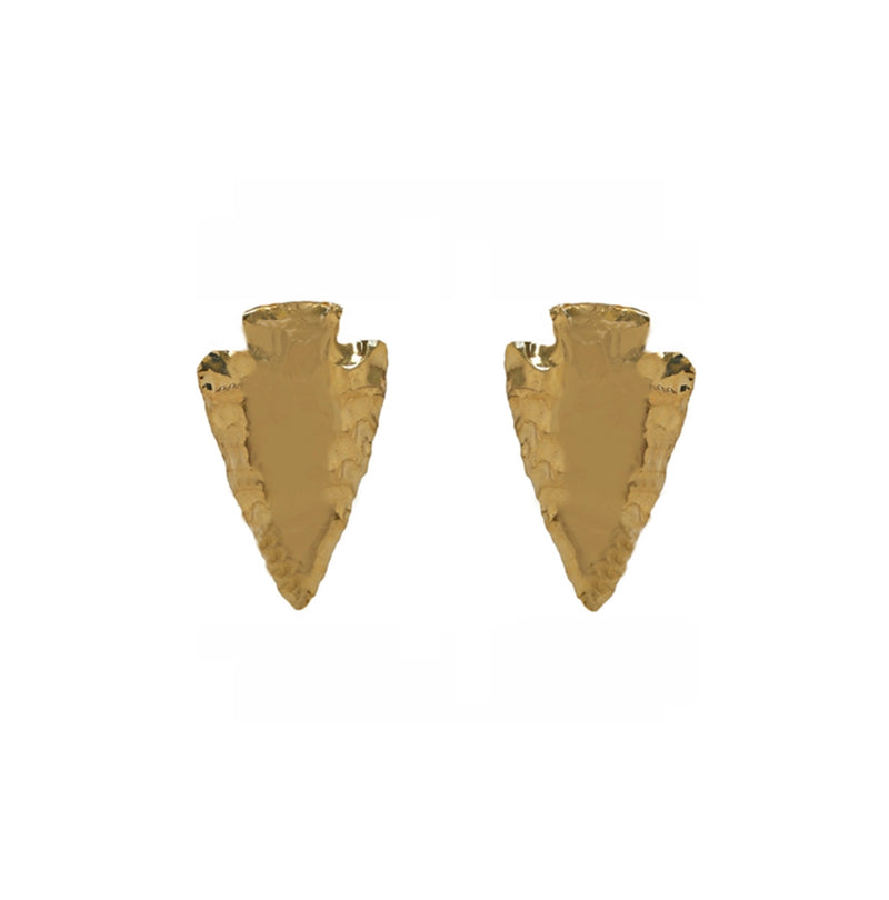 Janesko Arrowhead Earrings - Gold