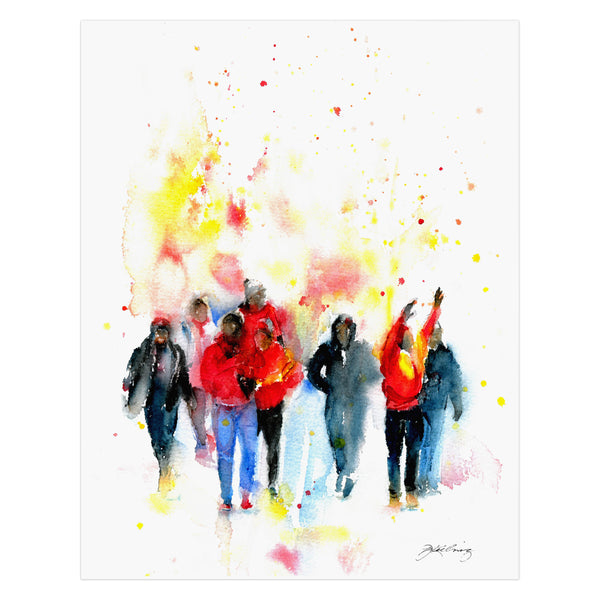 John Keeling World Champs Parade Watercolor Print