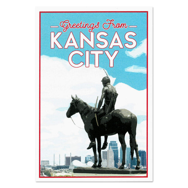 KC Landmarks Project Postcard: The Scout