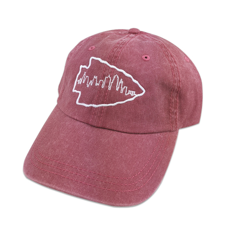 KC Local Events Arrowhead Skyline Hat - Red