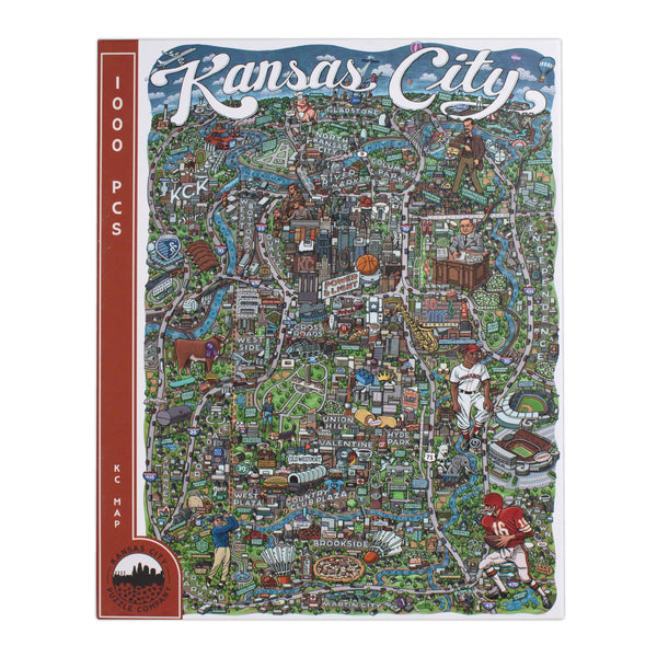 Kansas City Puzzle Co. KC Map Puzzle