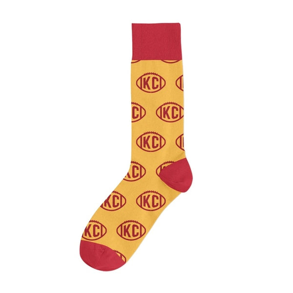 The Kansas City Clothing Co. KC Football Socks - Yellow