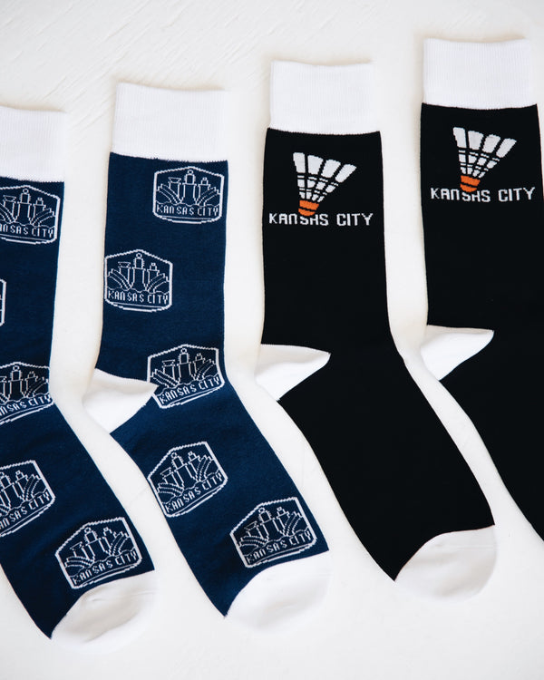 The Kansas City Clothing Co. Shuttlecock Socks - Black