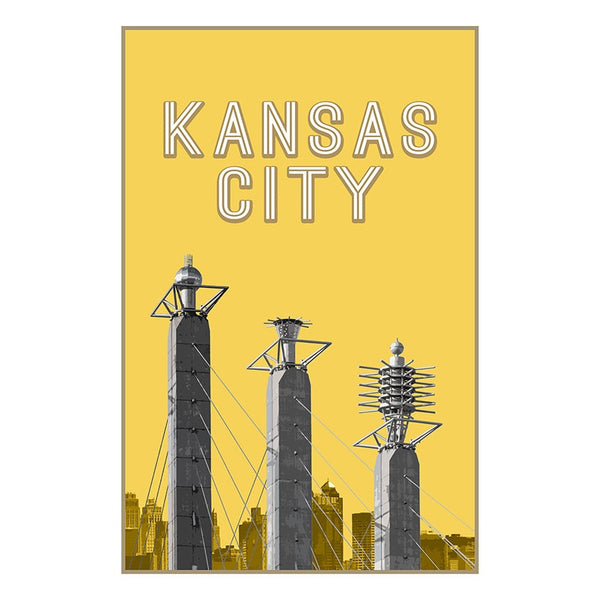 KC Landmarks Project Postcard: Bartle Hall Pylons