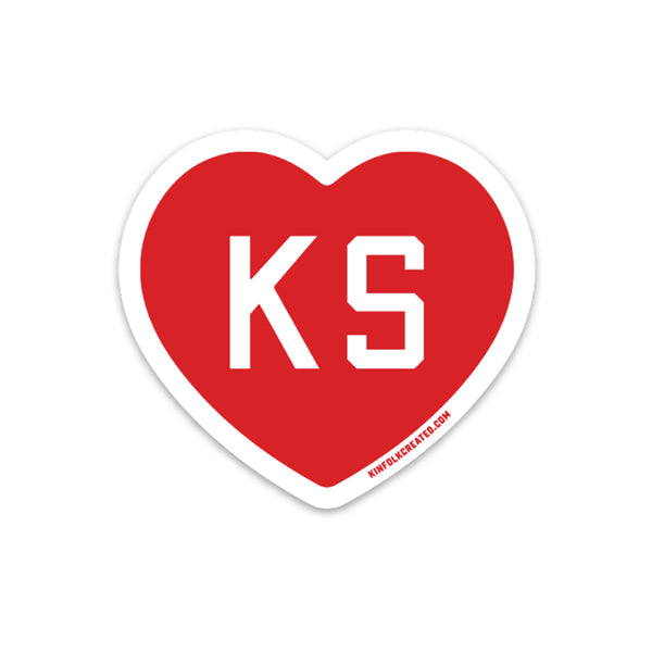 KINFOLK CREATED Kansas Love Sticker