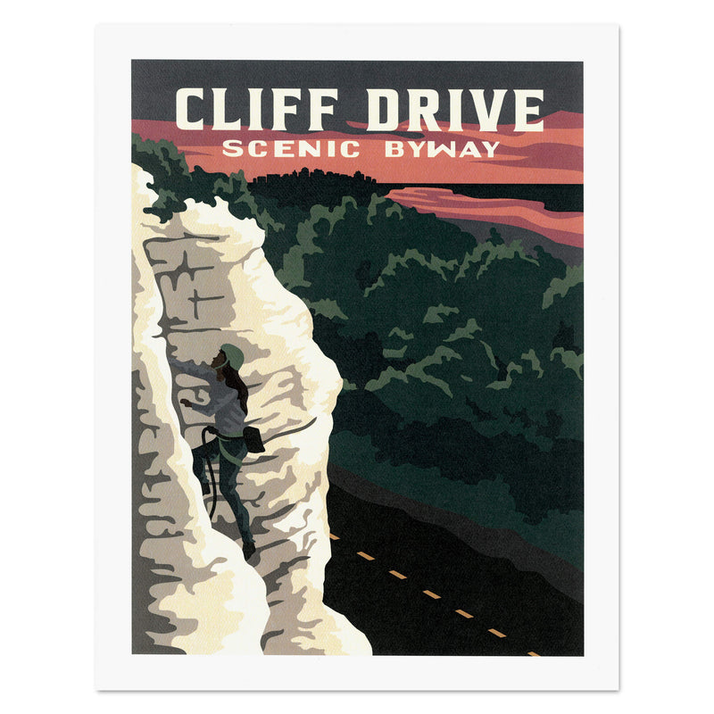 Kelly Pullen Design Cliff Drive Print