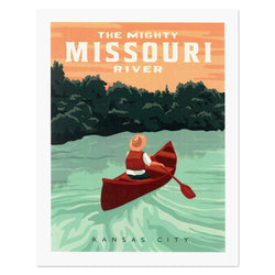 Kelly Pullen Design Missouri River Print