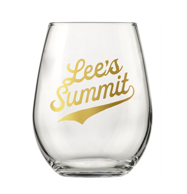 Lee's Summit Stemless Wine Glass