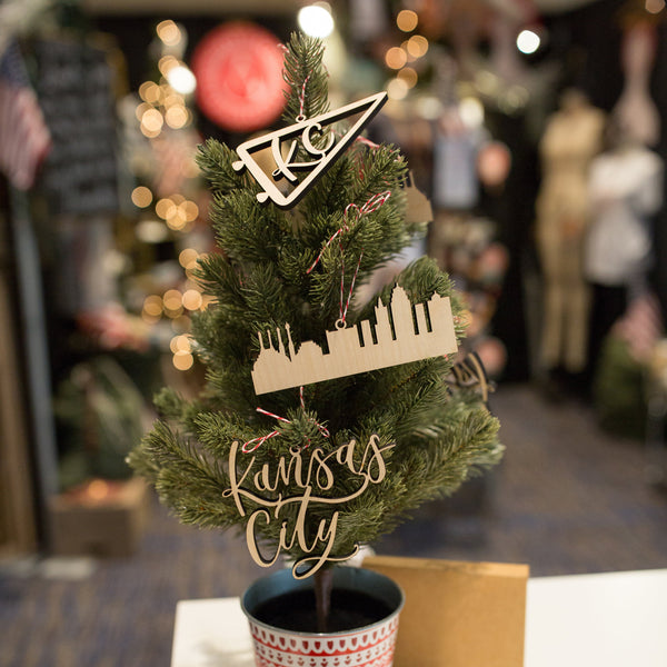 Lauren Heim Studio Kansas City Ornament Trio