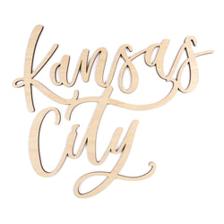 Lauren Heim Kansas City Script Woodcut