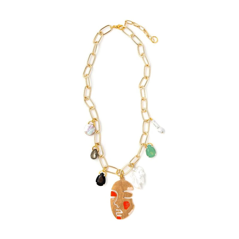 Lily Dawson Designs Face Charm Necklace