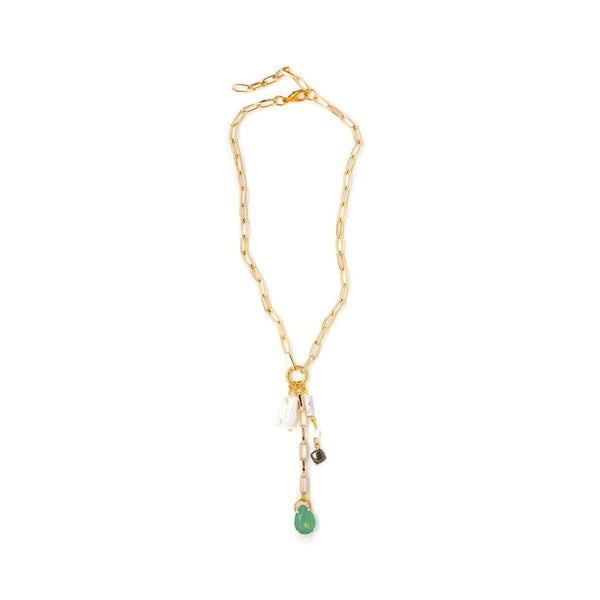 Lily Dawson Designs Opal and Pearl Lariat Necklace