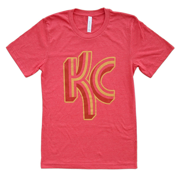 Local T KC Stripe Tee - Red
