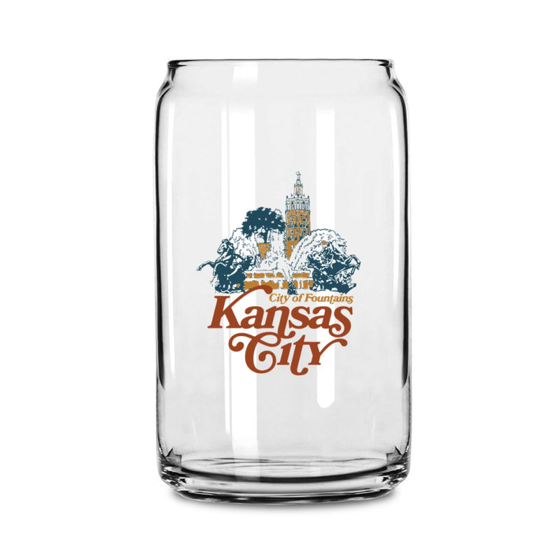 Made in KC x Charlie Hustle City of Fountains Beer Can Glass