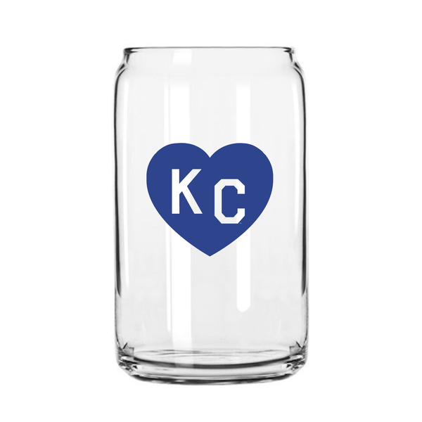 Made in KC x Charlie Hustle KC Heart Beer Can Glass: Royal
