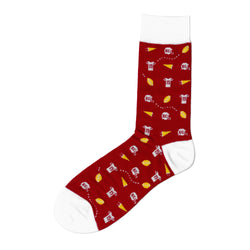 Made in KC Football Socks - Red