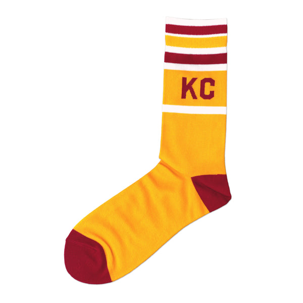 Made in KC Stripe Socks - Yellow