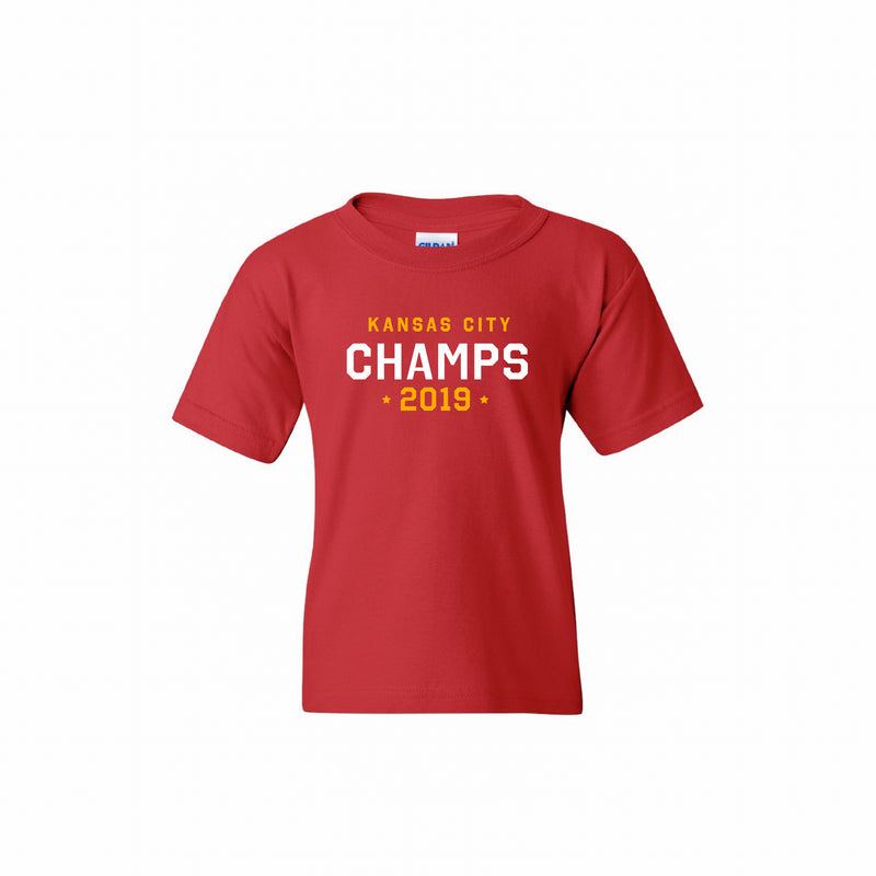 Kansas City 2019 Champs Kids Tee - Red