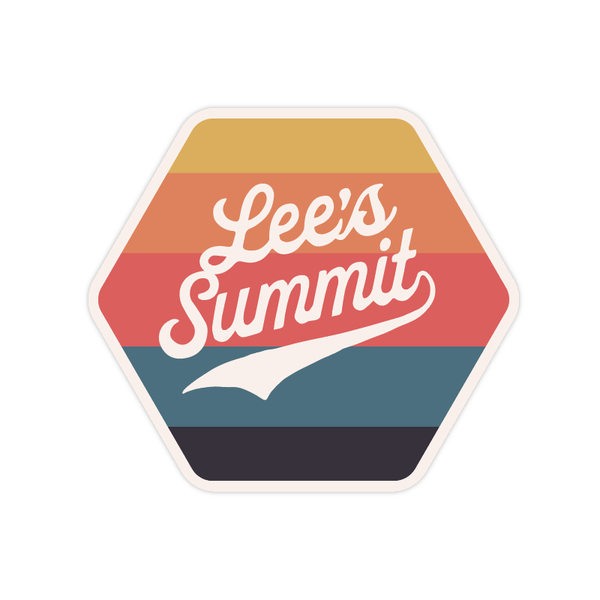 Lee's Summit Stripe Hexagon Sticker