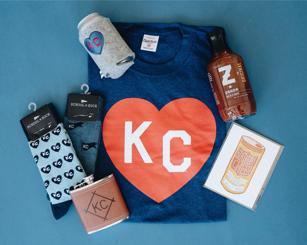 wlle x Charlie Hustle KC Heart Drink Sweater - Grey