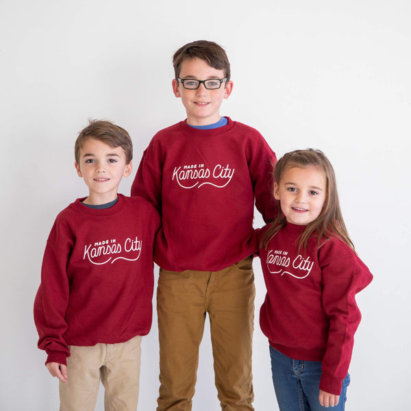 Made in Kansas City Youth Sweatshirt - Burgundy