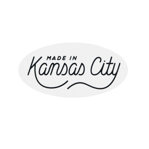 Made In Kansas City Script Sticker