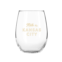 Made in Kansas City Stemless Wine Glass