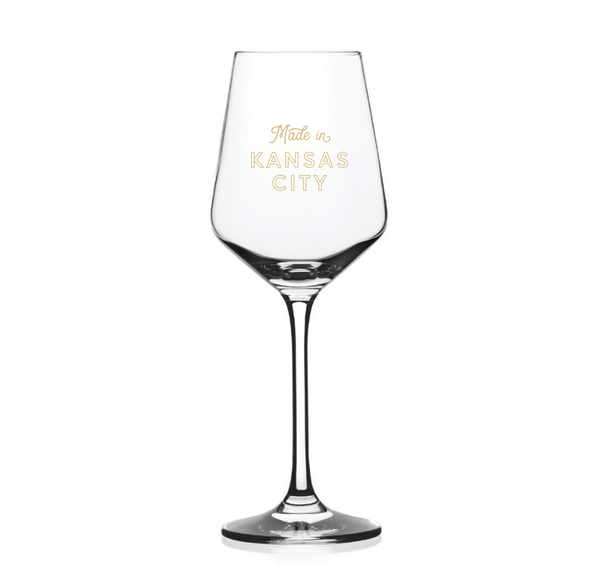 Made in Kansas City Wine Glass
